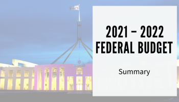 The 2021 – 2022 Federal Budget